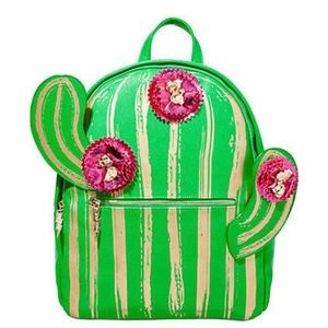 New Betsey Johnson Cactus Backpack